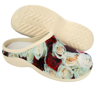 Buy Seconds Red & Cream Rose WOMENS AUS 9/EU 40 online